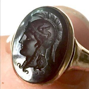 14k Gold CARNELIAN Intaglio Cameo Ring Victorian